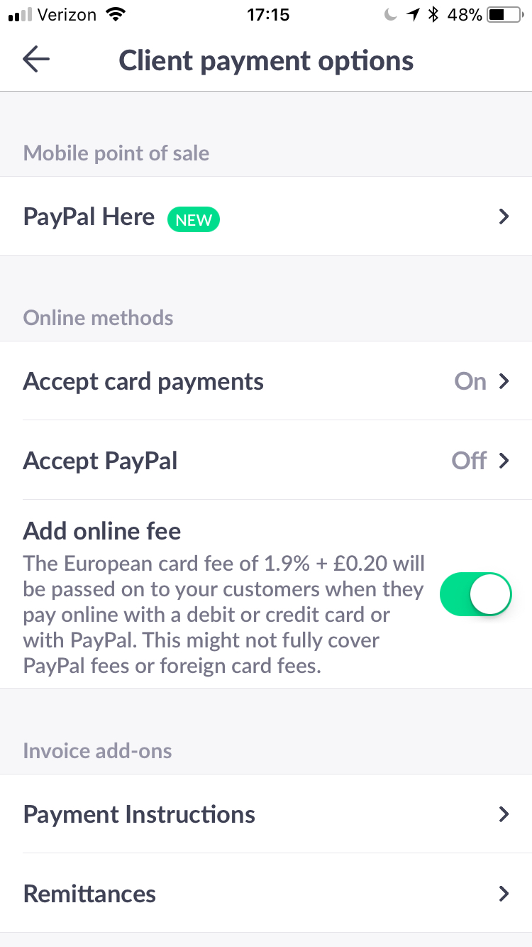 Can I Pass The Transaction Fee To My Customer Invoicego Support - Paypal invoice fee